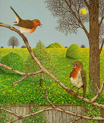 Robin Painting - Territorial Rights by Pat Scott
