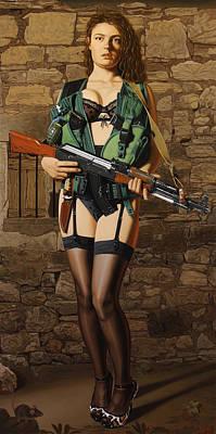 Ak-47 Painting - Terrorist by Sierk Van Meeuwen