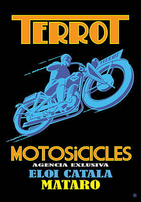 Painting - Terrot Motorcycles by Gary Grayson