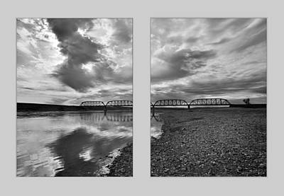 Photograph - Terry Bridge Diptych by Leland D Howard