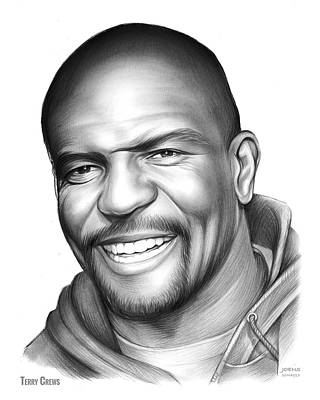 Drawing - Terry Crews by Greg Joens