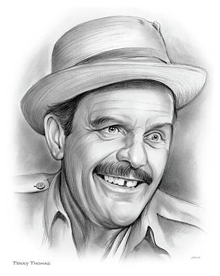 Drawing - Terry Thomas by Greg Joens