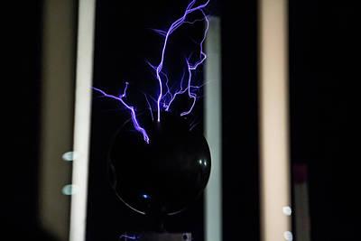 Photograph - Tesla Coil 2 by Tyson Kinnison