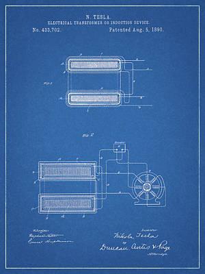 Drawing - Tesla Electrical Transformer by Dan Sproul