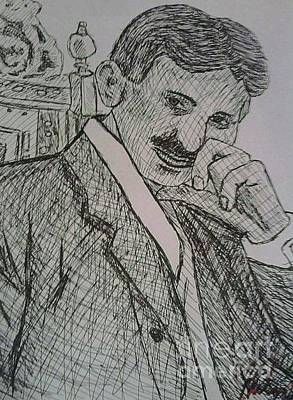 Drawing - Tesla by Kristen Diefenbach