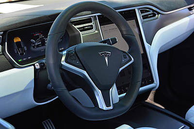 Photograph - Tesla Model X Interior by Mike Martin