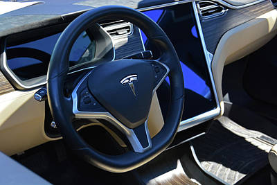 Photograph - Tesla S85d Cockpit by Mike Martin
