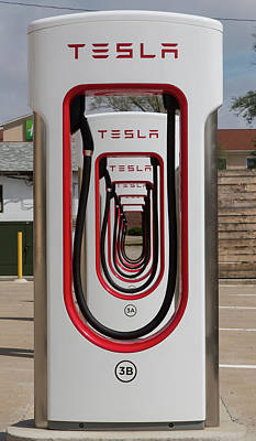 Tesla Superchargers Art Print