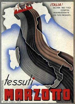 Mixed Media - Tessuti Marzotto - Italian Textile Company - Vintage Advertising Poster by Studio Grafiikka