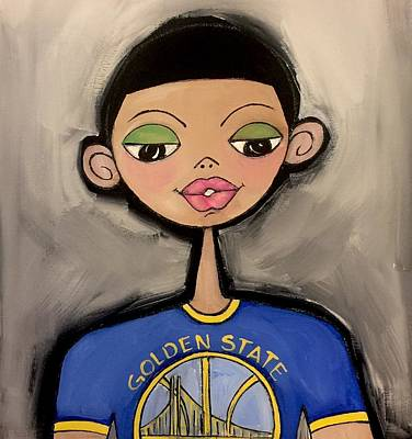 Painting - Golden State  Warriors  Fan by Deborah Carrie