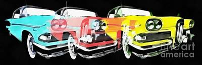 Painting - Edsel Triple Threat Pop Art by Edward Fielding