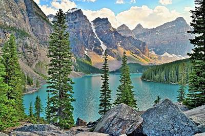 Photograph - Scenic Mountain Range And Lake by Frozen in Time Fine Art Photography