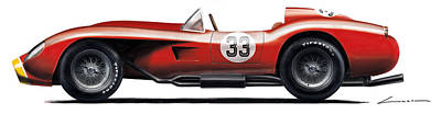 Testa Rossa 25 1958 Art Print by Luc Cannoot