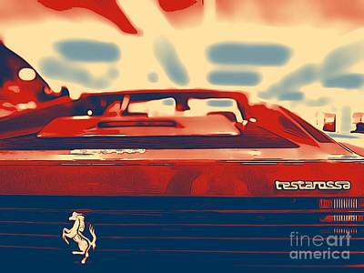 Photograph - Testarossa by Jenny Revitz Soper