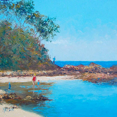New South Wales Painting - Testing The Water by Jan Matson