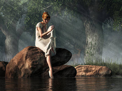 Surrealism Digital Art - Testing the Waters by Daniel Eskridge