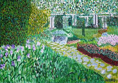 Painting - Tete D'or Park Lyon France by Valerie Ornstein