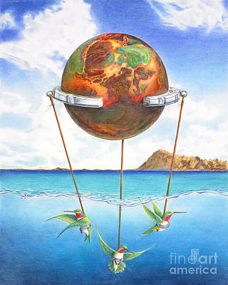 Tethered Sphere Art Print by Melissa A Benson