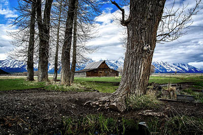 Photograph - Teton Barn #2 by Scott Read