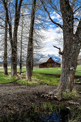 Photograph - Teton Barn #3 by Scott Read