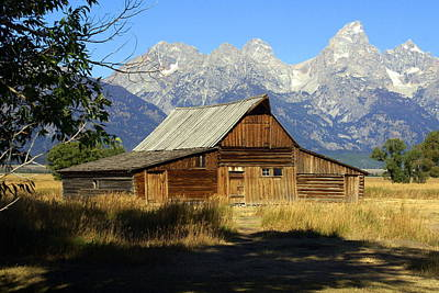 Teton Barn 4 Art Print by Marty Koch