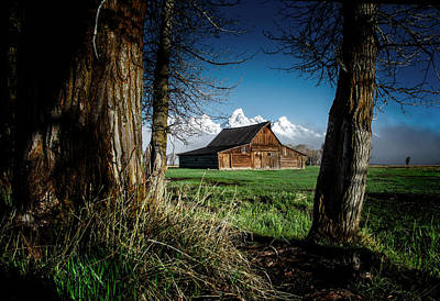 Photograph - Tetons And Moulton Barn by Scott Read