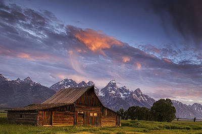 Remote Photograph - Teton Barn by Andrew Soundarajan