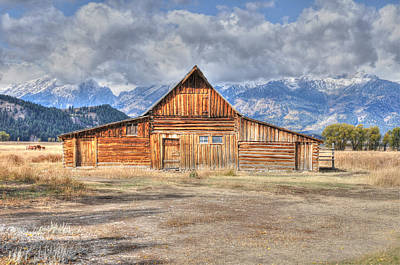 Photograph - Teton Barn Front View by David Armstrong