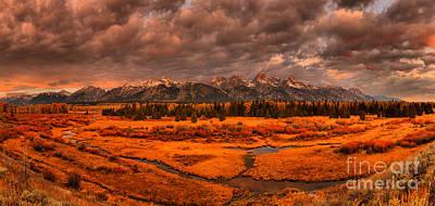 Photograph - Teton Blacktail Ponds Sunrise by Adam Jewell