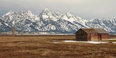 Photograph - Teton Cabin by Steve Stuller