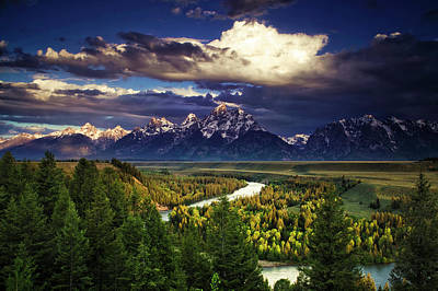 Teton Photograph - Teton Cloudburst by Andrew Soundarajan