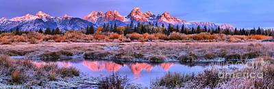 Photograph - Teton Creek Sunrise Panorama by Adam Jewell