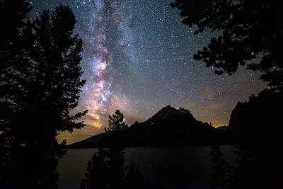 Photograph - Teton Galaxy Night by James BO Insogna