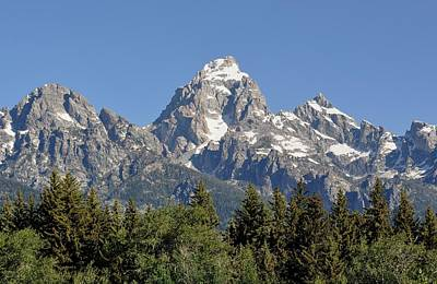 Digital Art - Teton Grande by Fred Zilch
