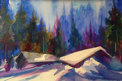 Painting - Teton Haven by J Worthington Watercolors
