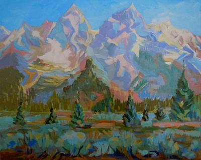 Art Print featuring the painting Teton Heaven by Francine Frank