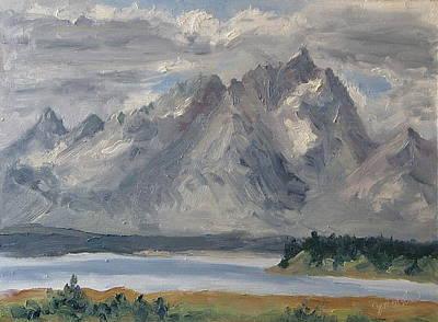 Zanobia-shalks Painting - Teton Morn by Zanobia Shalks