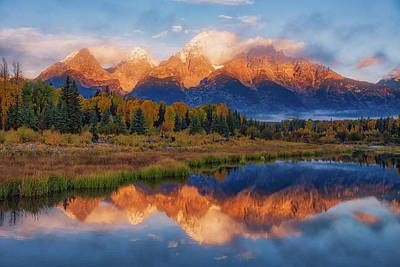 Photograph - Teton Morning by Darren White