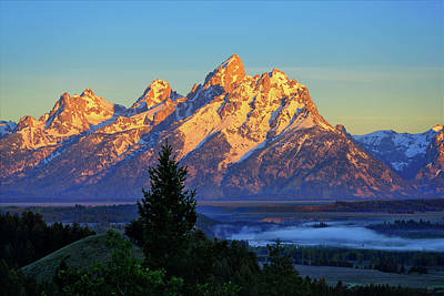 Photograph - Teton Morning Light by Greg Norrell