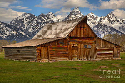 Teton Mountain Barn Art Print by Adam Jewell