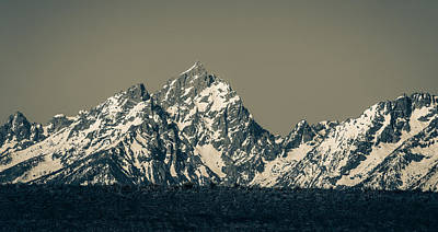 Photograph - Teton Mountain Range Panorama by Dan Sproul