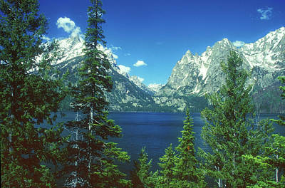 Photograph - Teton Mountains And Lake by John Burk