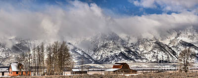 Print featuring the photograph Teton Mountains Over Mormon Row by Adam Jewell