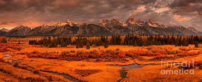 Photograph - Teton Mountains Sunrise Storms by Adam Jewell