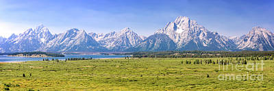Photograph - Teton Panorama by Delphimages Photo Creations