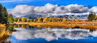 Photograph - Teton Peaks In The Clouds by Adam Jewell