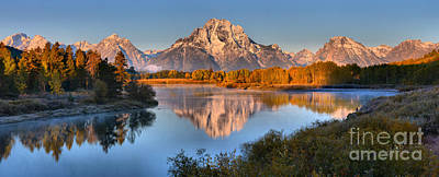 Photograph - Teton Peaks In The Snake River by Adam Jewell