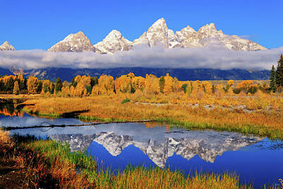 Photograph - Teton Peaks Reflections by Greg Norrell