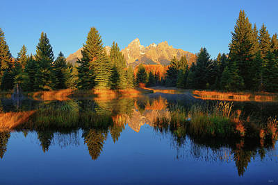Photograph - Teton Placid Reflections by Greg Norrell