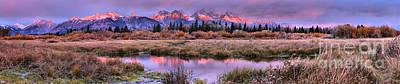 Photograph - Teton Purple Mountain Majesty Panorama by Adam Jewell